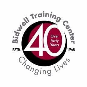 A 40th anniversary logo for Bidwell Training Center