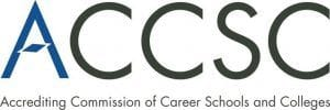 A logo for the Accrediting Commission of Career Schools and Colleges